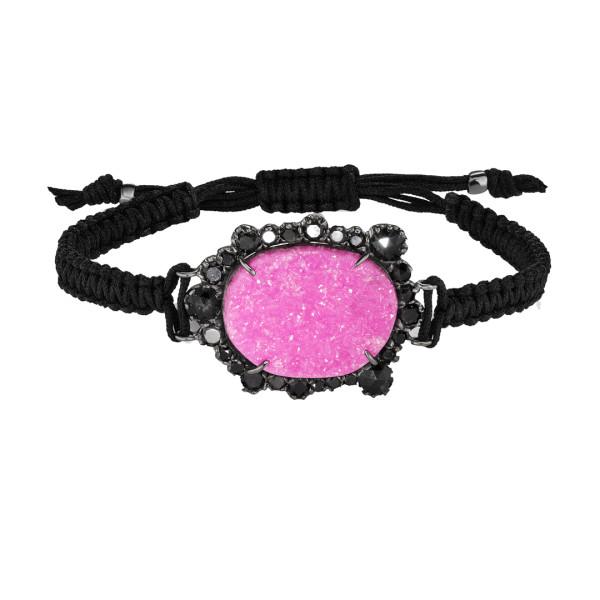 Cobalto calcite macrame bracelet