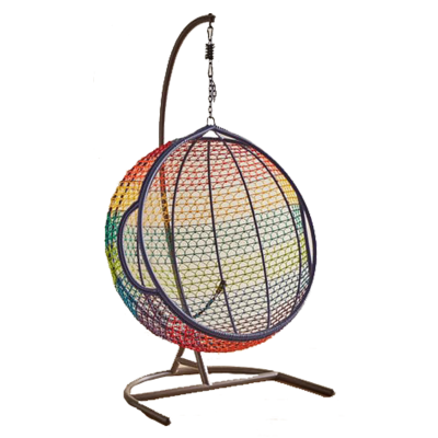 Swingasan collection rainbow ombre hanging chair