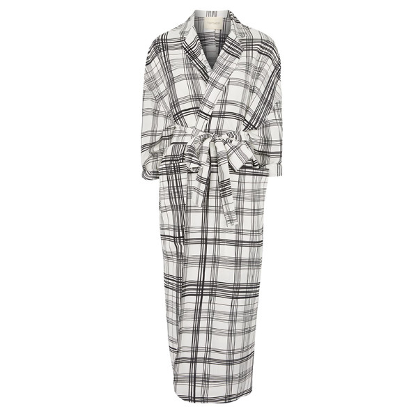 Topshop grid checked duster coat