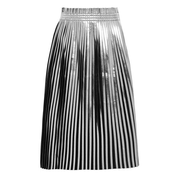 Mm6 maison martin margiela laminated plisse   skirt