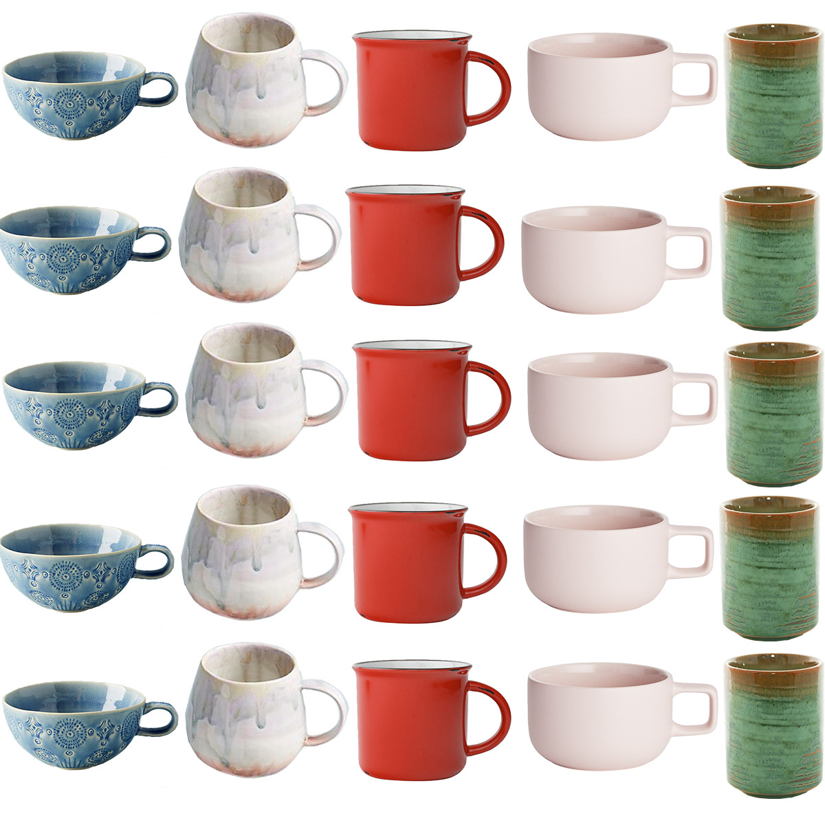 Coffee mugs square