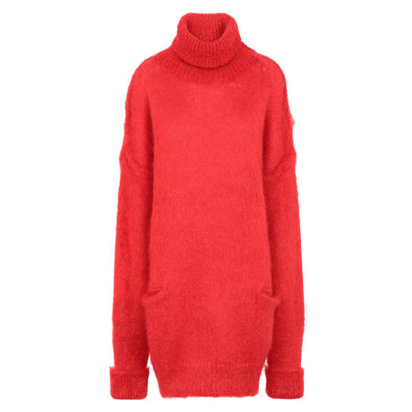 Maison margiela mohair blend turtleneck sweater