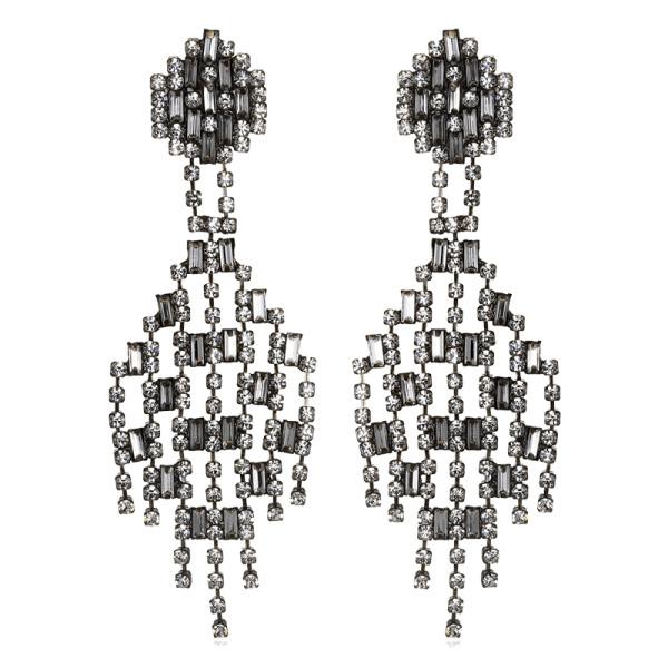Sequin chantilly drop earrings