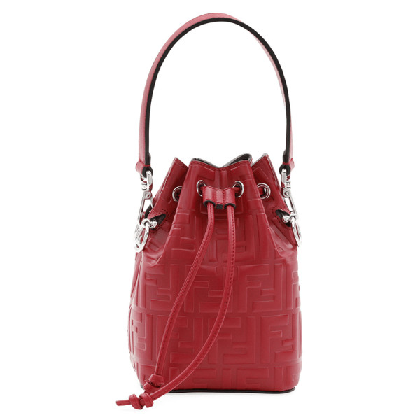 Fendi ff calf mon tresor bucket bag