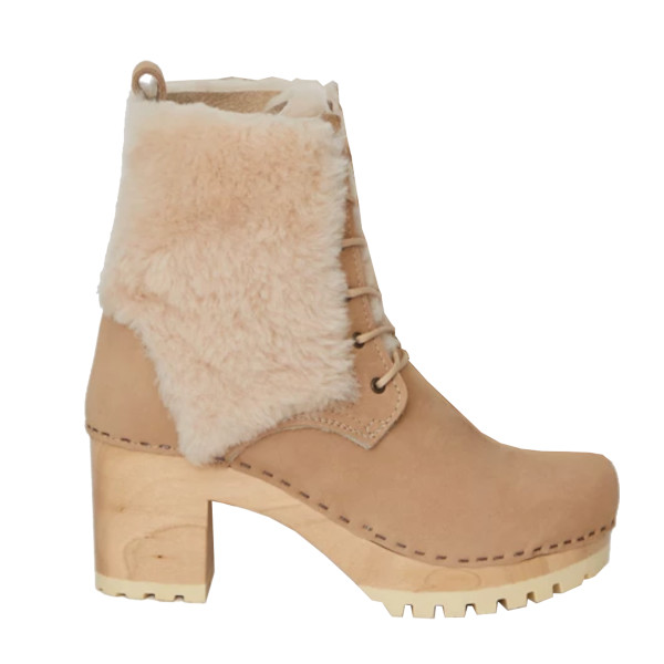 Audubon high tread lace up shearling boots
