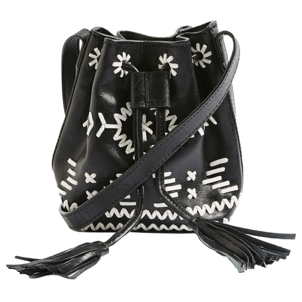 Topshop rodeo leather bucket bag
