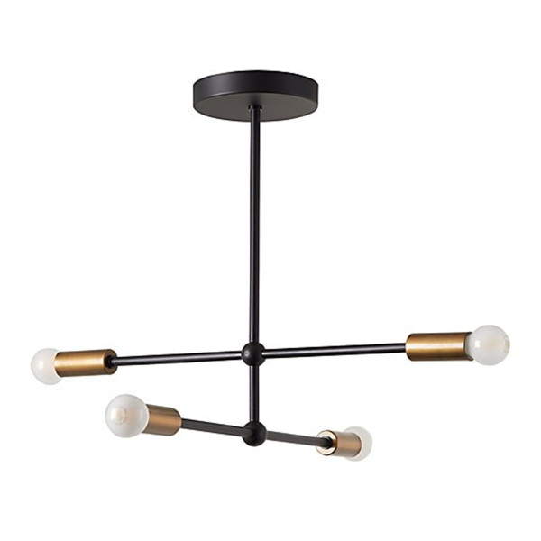 Crate   kids sputnik black flush mount ceiling light