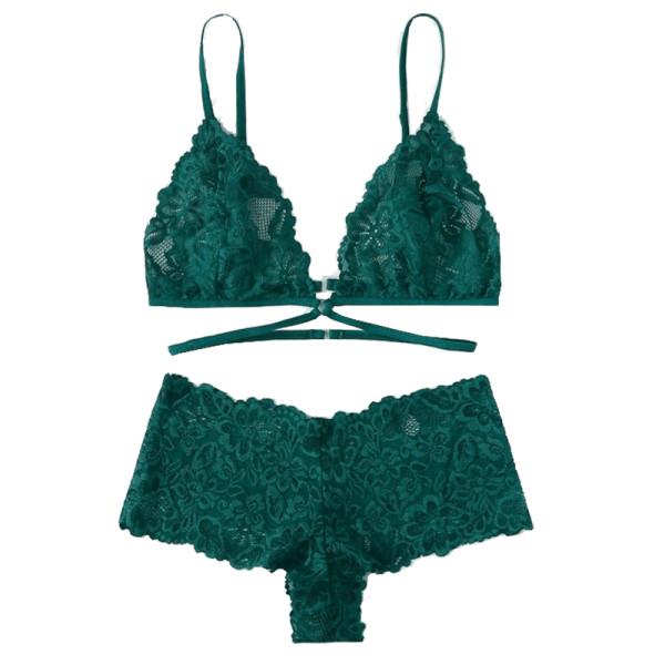 Shein floral lace lingerie set