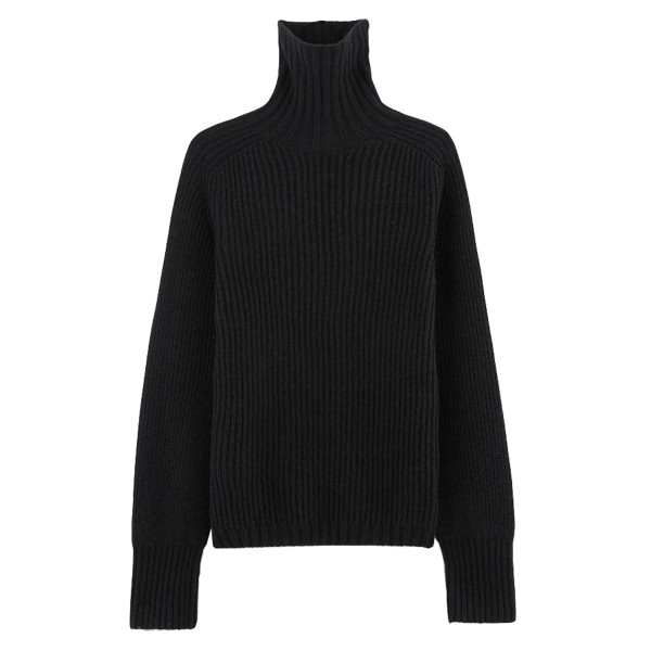 Officine ge  ne  rale amanda rib knit wool turtleneck sweater
