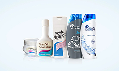 The Evolution of Head & Shoulders - image of bottles changing over the years.