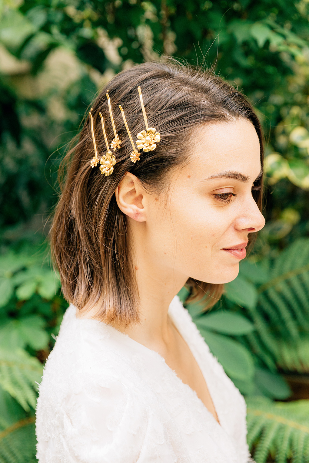 set de 5 barrettes narcisse