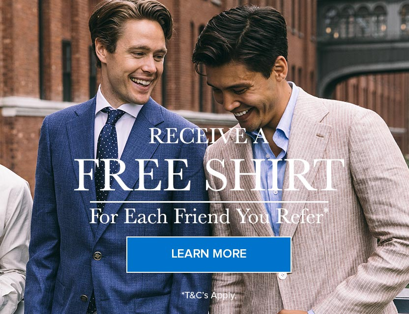 Receive a free shirt for each friend you refer*