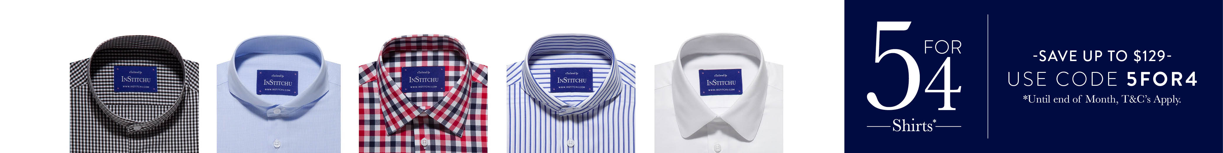 Custom, tailored shirt collection