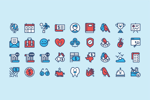 Justworks' icons showcase our core values