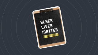 "A clipboard which says: ""Black Lives Matter"""