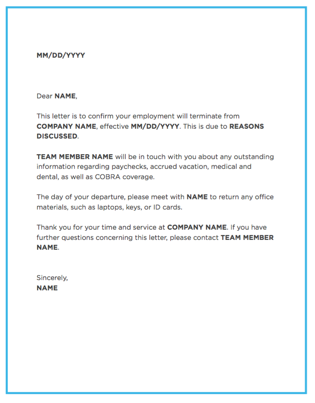 blog image employee termination letter template