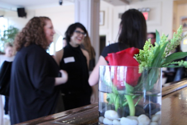 women networking at an event