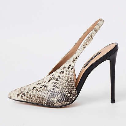 Snakeskin Court Shoe