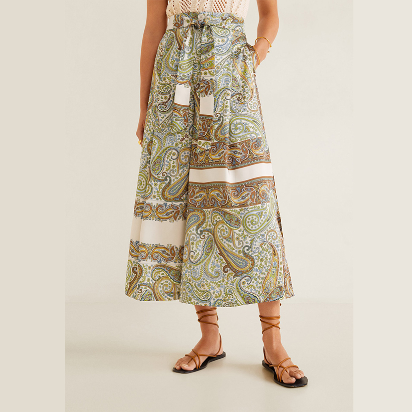 Paisley Culotte Trousers
