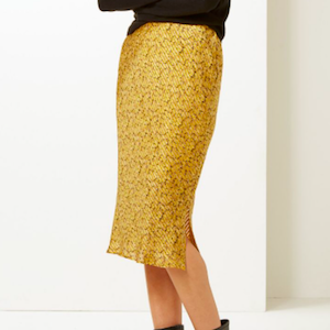 Animal Print Slip Midi Skirt