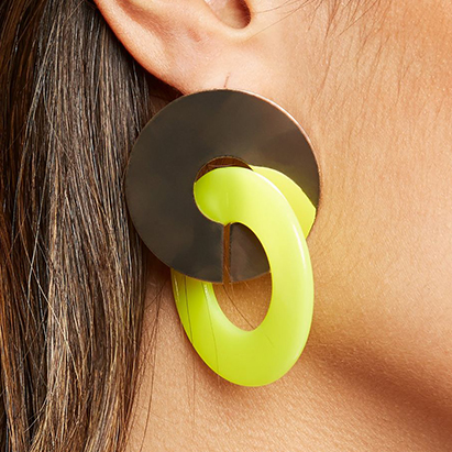 new look yellow earring 4.49 411