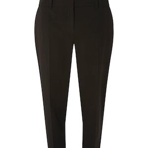 Black Split Hem Ankle Grazer Trousers