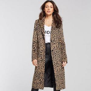 Edge To Edge Coat - Leopard Print