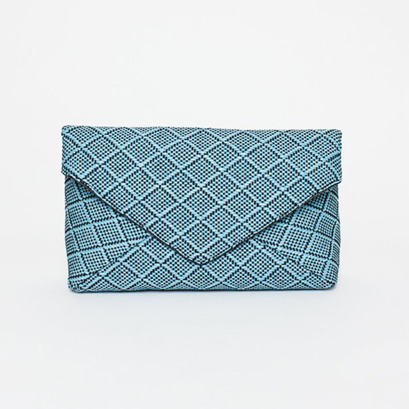 Dries Van Noten Blue Envelope Clutch Bag