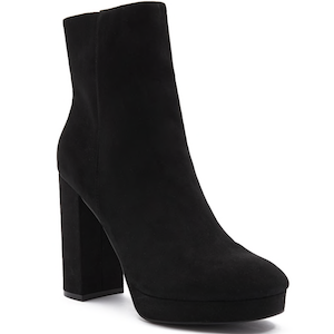 Faux Suede Platform Ankle Booties