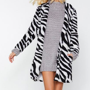 Just Like Magic Zebra Coat