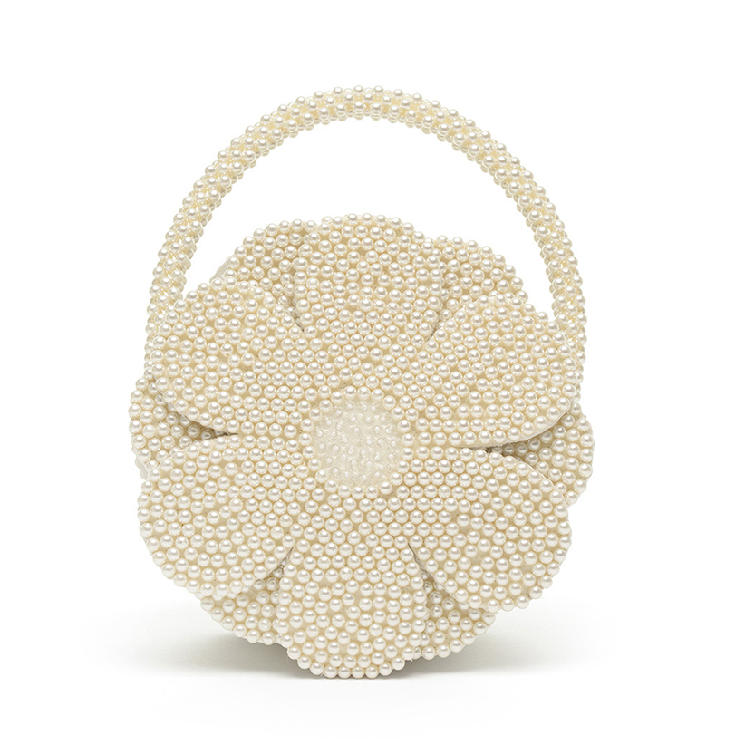 Shrimps Buttercup Faux Pearl Embellished Bag