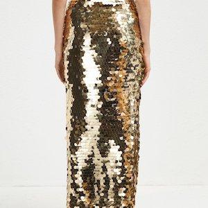 cf16936b409c Emilia Sequin Jersey Midi Skirt