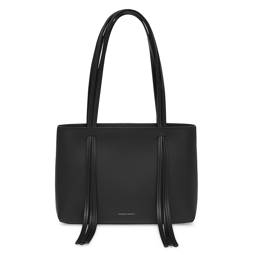 Mansur Gavriel Leather Mini Fringe Shoulder Bag