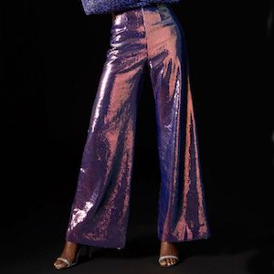 Hologram Sequin Trousers