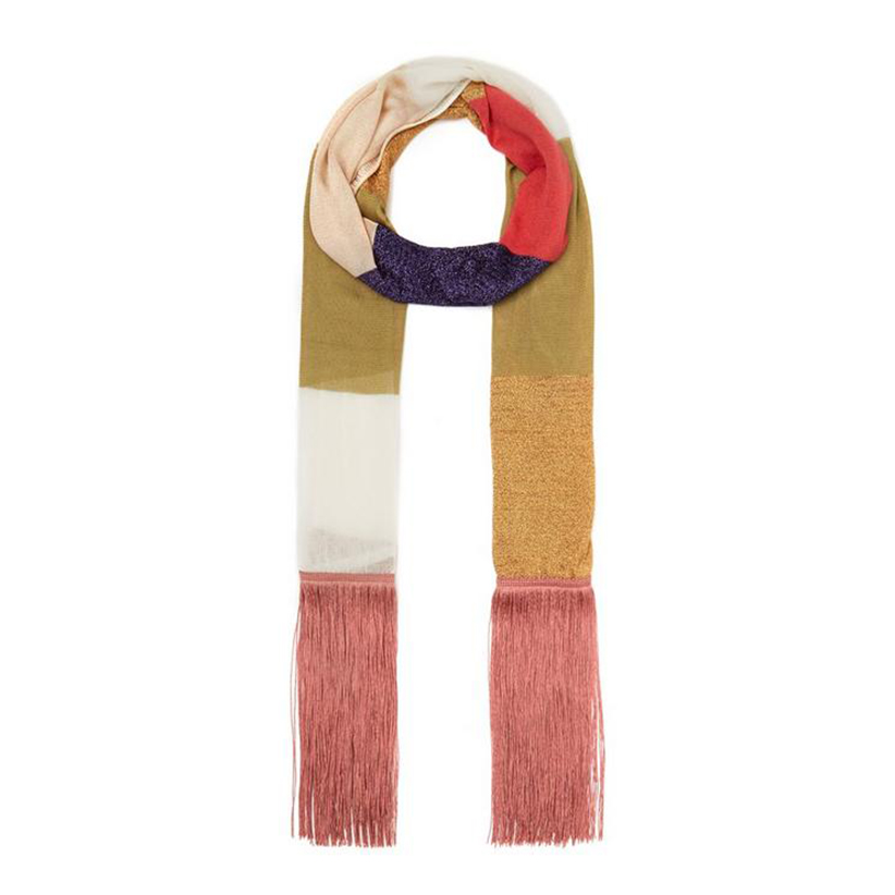 Missoni Colour Block Fringe Scarf