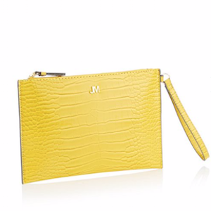 Yellow Croc Effect 'Bey' Clutch Bag
