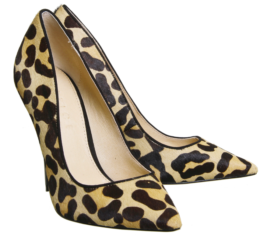 Office On Topss Heels Leopard Pony Effect
