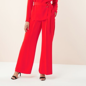 next red trousers