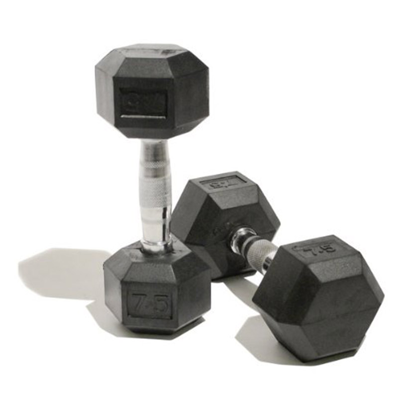 Men's Rubber Hex Dumbbells 6kg