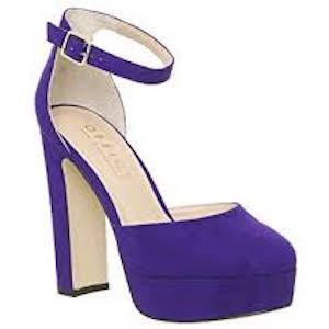 Hatch Heeled Platform Shoe - Purple