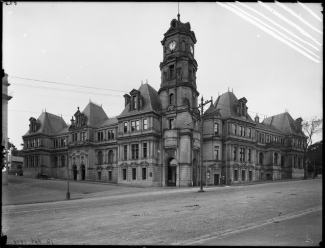 Auckland Public Library, Art Gallery and Municipal Offices, corner of Wellesley and Kitchener Streets, Auckland. Auckland Star: Negatives. Ref: 1/1–002920-G. Alexander Turnbull Library, Wellington, New Zealand.