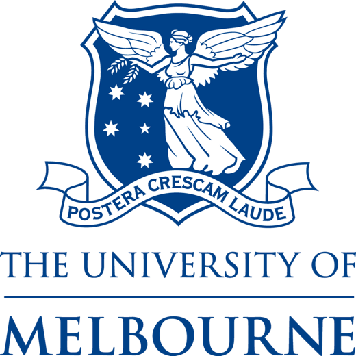 The logo for the University of Melbourne