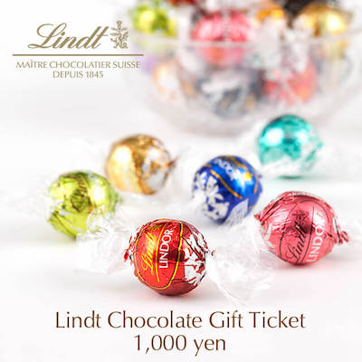 lindt chocolate ticket