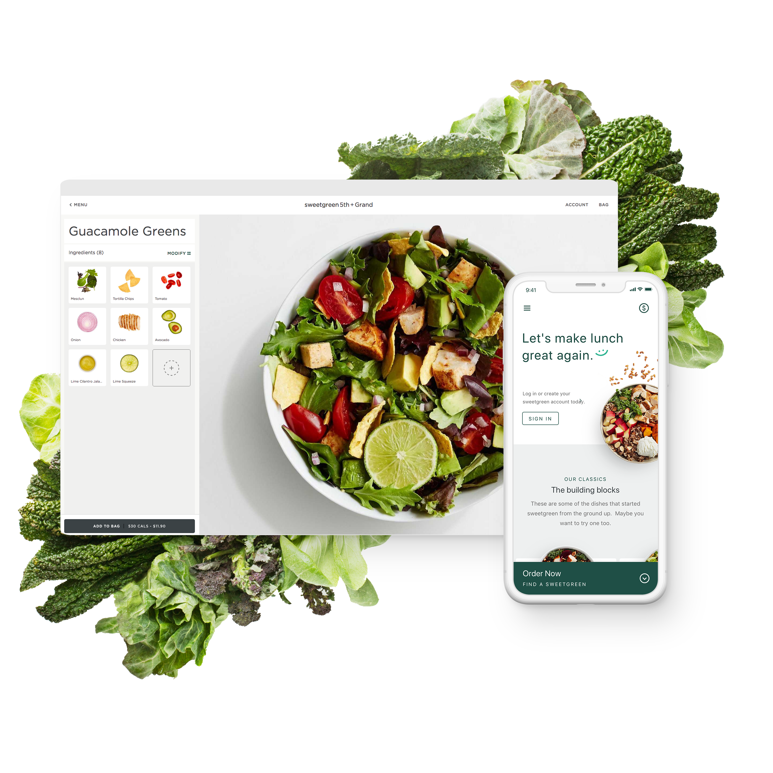 Sweetgreen mockup