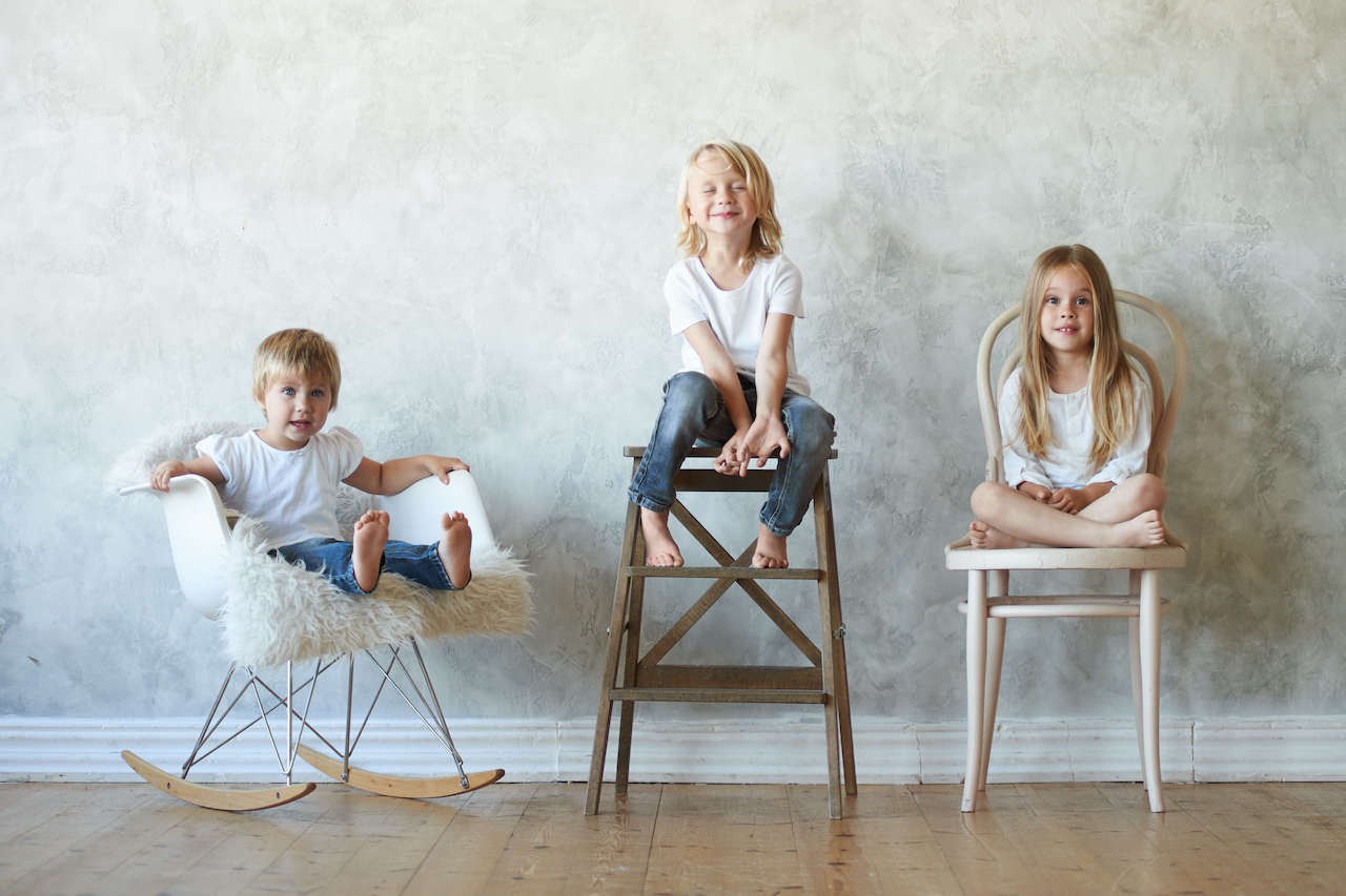 children sit in chairs, thinking about pattern recognition