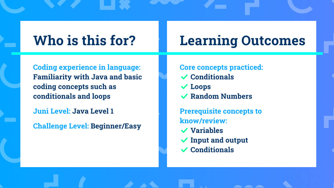 The learning outcomes for beginner Java coding project rock paper scissors.