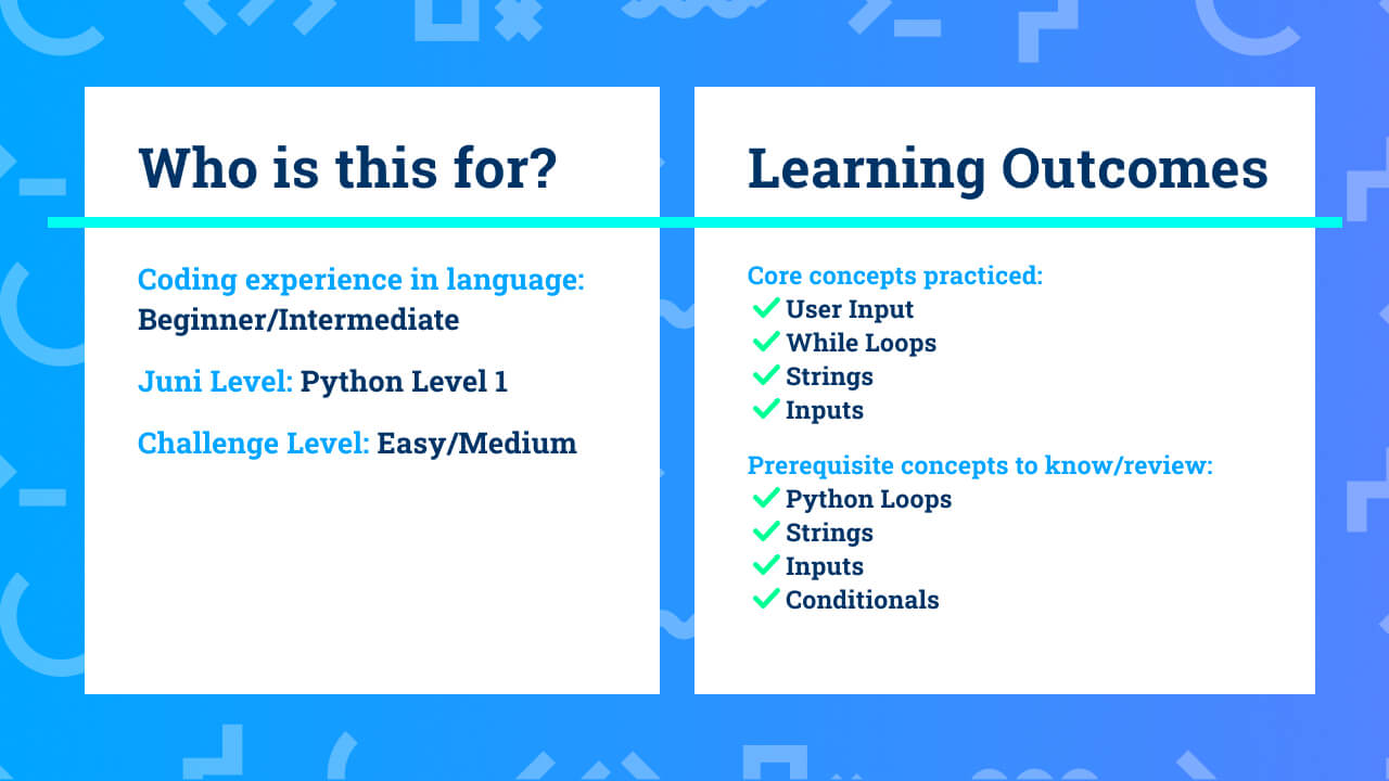 The learning outcomes for beginner/intermediate Python coding project Countdown and Pomodoro Timer.