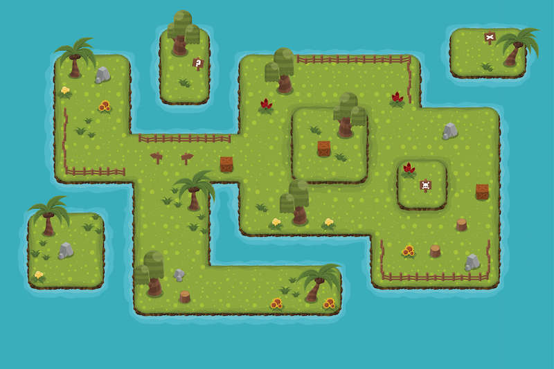 A level map for a Scratch game