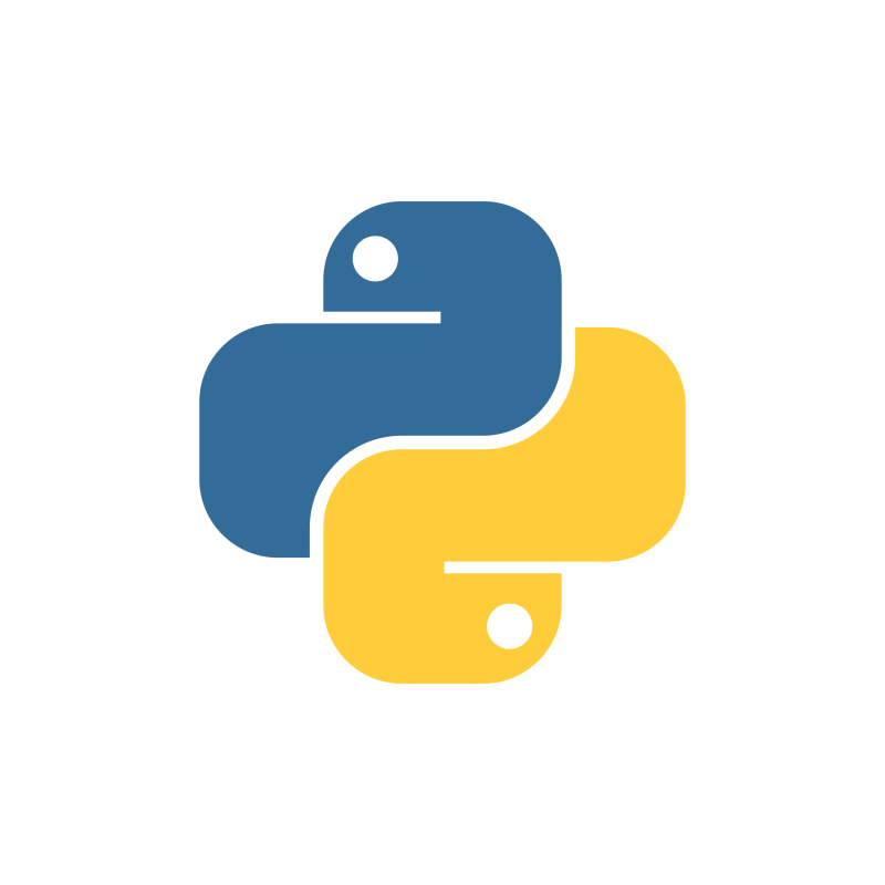 The Python coding language Logo.