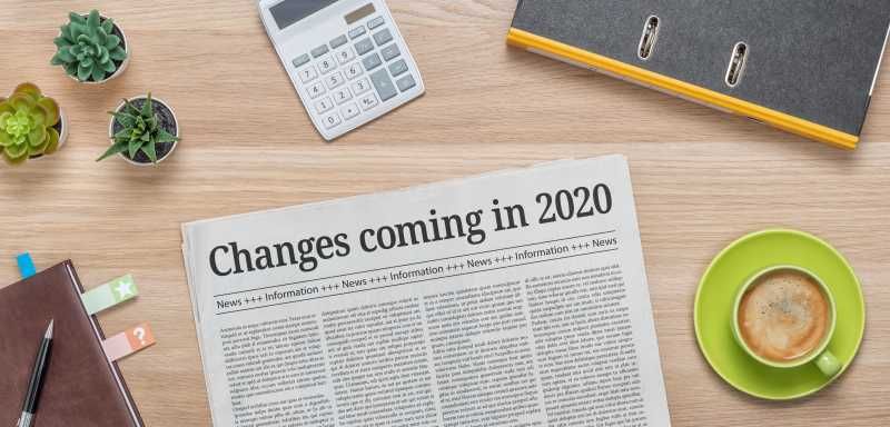 A photo of a newspaper announcing 2020 changes for the AP Computer Science A exam.